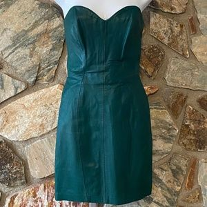 Michael Hoban North Beach Leather Bustier Dress XS